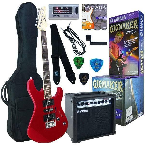 Paquete Guitarra Yamaha Roja ERG121GPIIMR