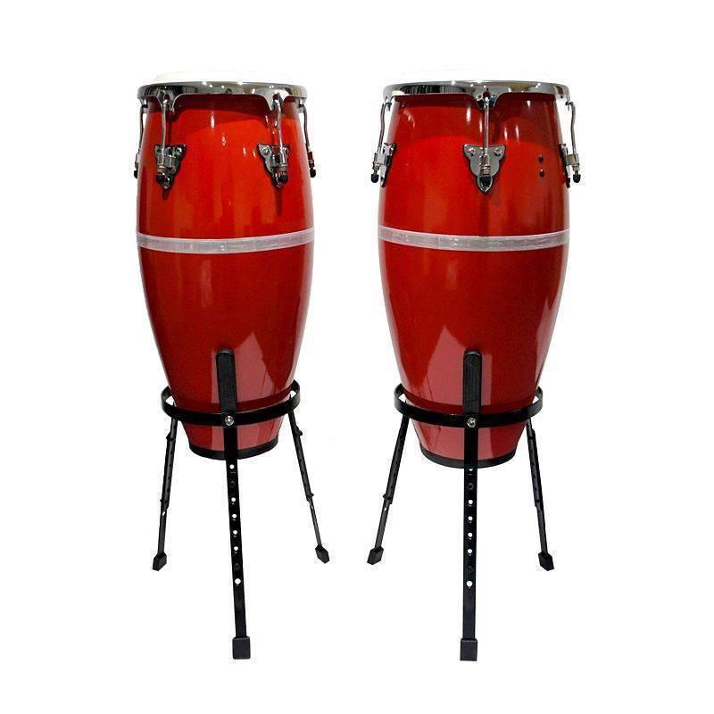 Congas de 10 y 11 pulgadas color Rojas Concert