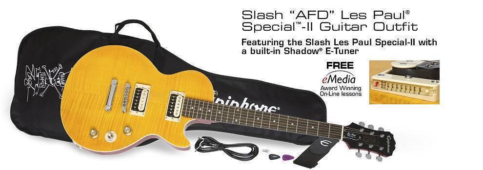 Paquete Guitarra Epiphone Slash AFD Les Paul