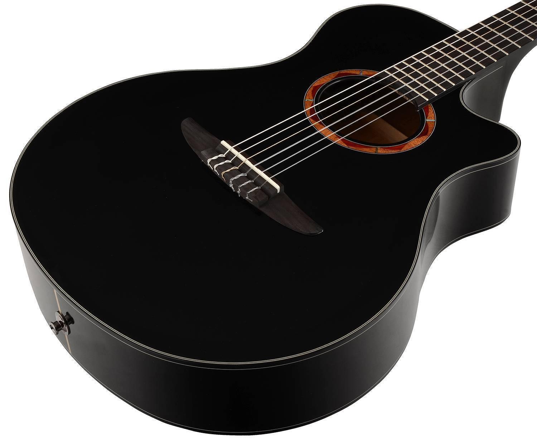 Guitarra Electroacustica Yamaha NTX700 Cuerdas De Nylon Negra