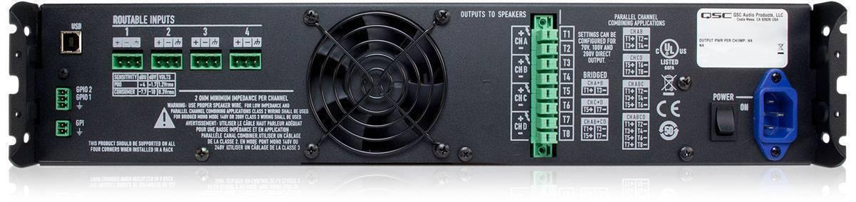 Amplificador de procesamiento qsc CXD4.2