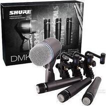 DMK57-52  Paquete de MICROFONOS SHURE 4piezas 3 SM57 y 1 Beta 52, 3brakets