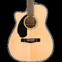 Guitarra Eacustica Fender CC-60SCE zurda natural.