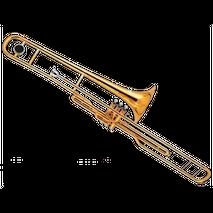 Trombon De Embolos Si B Laqueado Century CNTB003