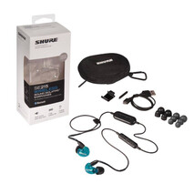 Shure SE215SPE-BT1 Audifonos In-Ear Inalambricos con Bluetooth, Color Azul