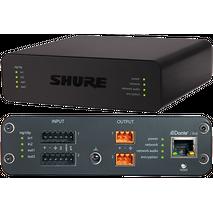Interfaz de audio en red con conectores de bloque