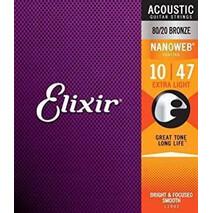 Juego de cuerdas Elixir NANOWEB (Acustica)