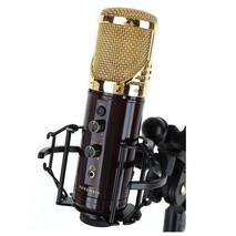 Microfono Kurzweil para estudio de grabacion KM-1U Dorado