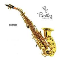Saxofon Soprano Curvo Bb Laqueado Dorado Bentley