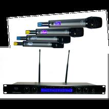 Sistema de 4 microfonos inalambricos profesionales