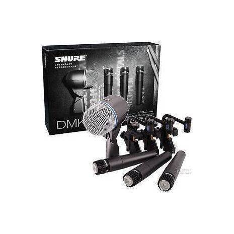 DMK57-52  MICROFONOS SHURE PQTE 4piezas,3xSM57 y 1 Beta 52, 3brakets