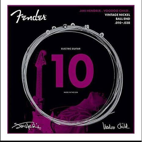 Encordadura Guitarra Electrica Fender Jimi Hendrix Voodoo Child Niquel 10-38