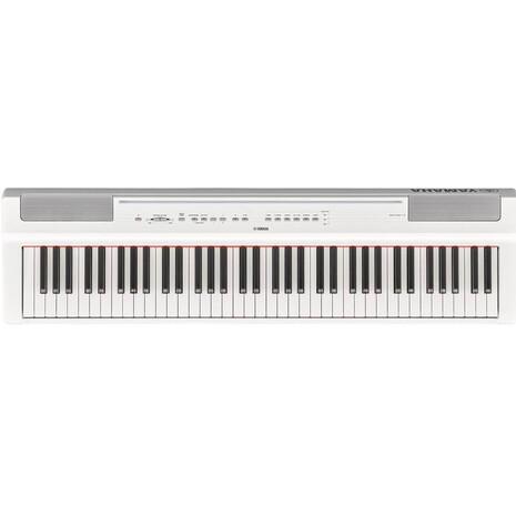 Piano Digital Intermedio P121WH YAMAHA Color Blanco Con Adaptador Pa-150