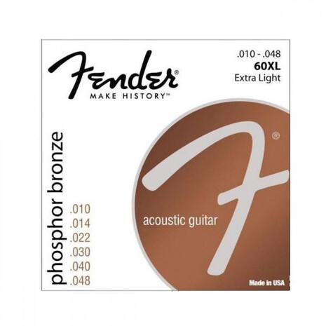 Encordadura Guitarra Electro Acustica Fender 860XL  10-48