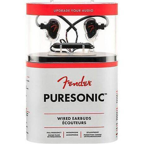Audifonos Fender Puresonic Con Cable Negro Metalico
