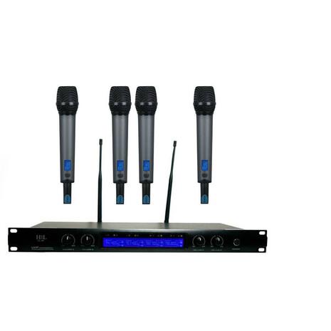 4 microfonos inalambricos profesionales