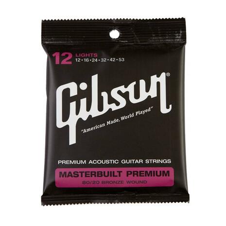 Cuerdas Para Guitarra Gibson Masterbuilt Premium 012-053