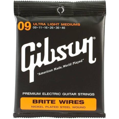 Cuerdas Guitarra Gibson Brite Wires 009-042