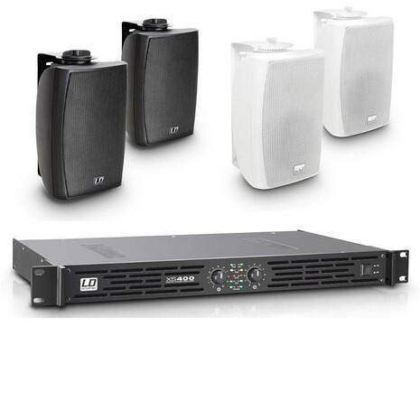 Paquete Ld Systems Bocinas CWMS42 Pared y 1 XS400 para restaruante o local comercial